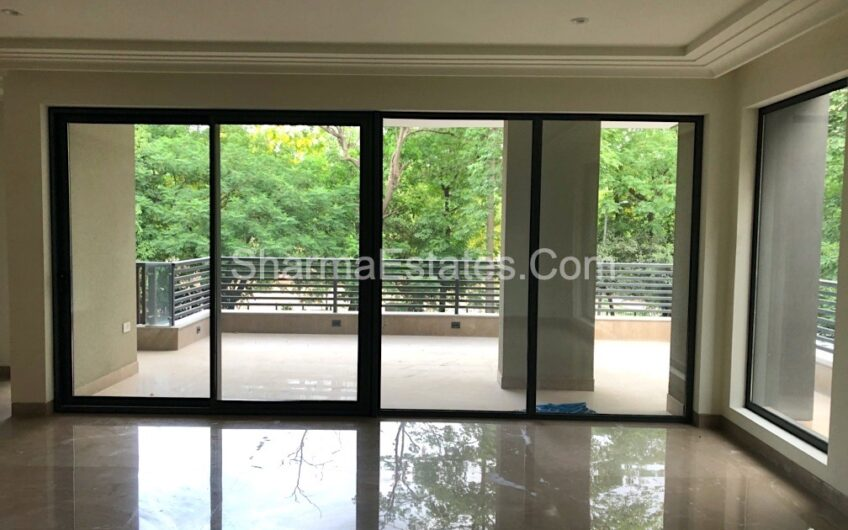 Park Facing New Builder Floor Apartment for Rent in Shanti Niketan New Delhi | 5 BHK Super Luxury Duplex House in South Delhi