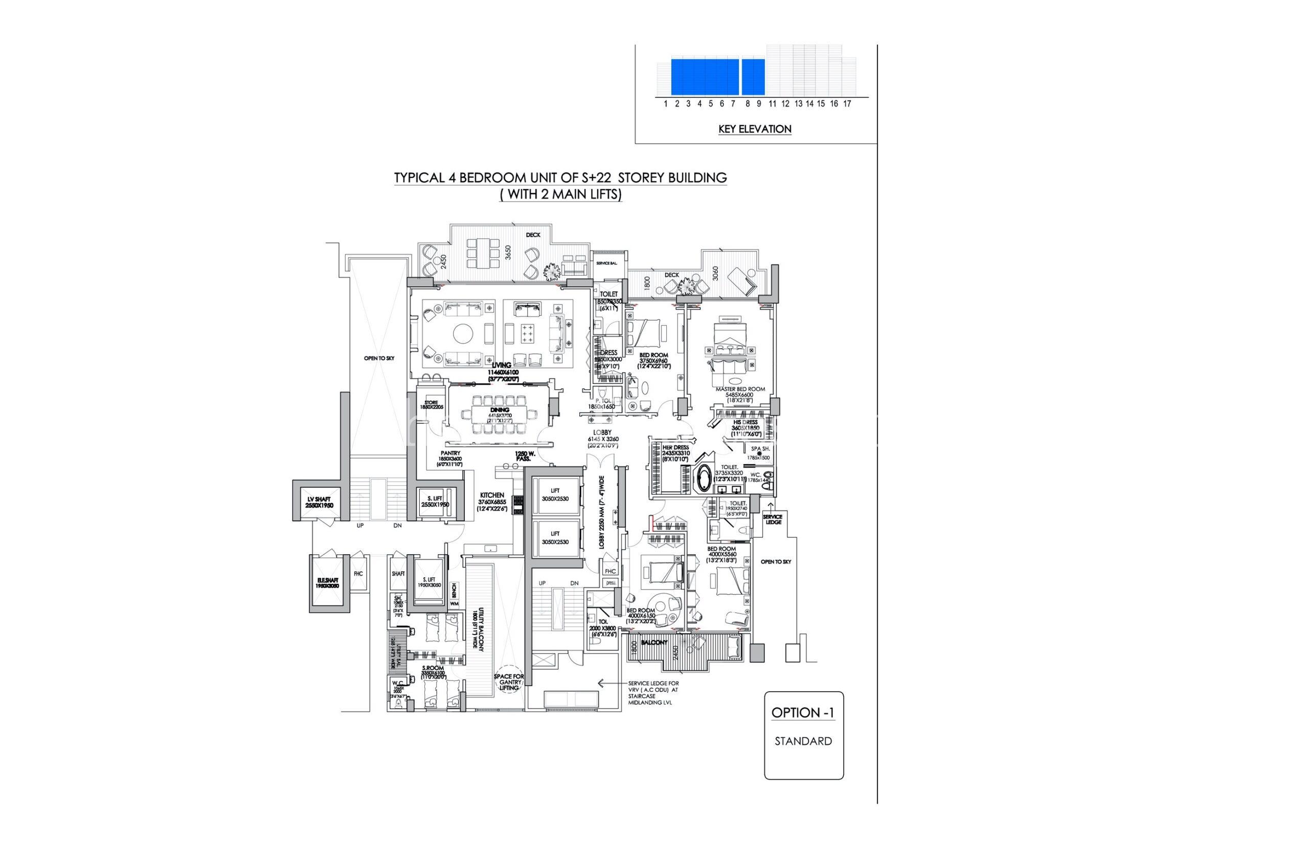 4-BHK-Layout-The-Camellias-DLF-Golf-Drive-Sector-42-Gurugram